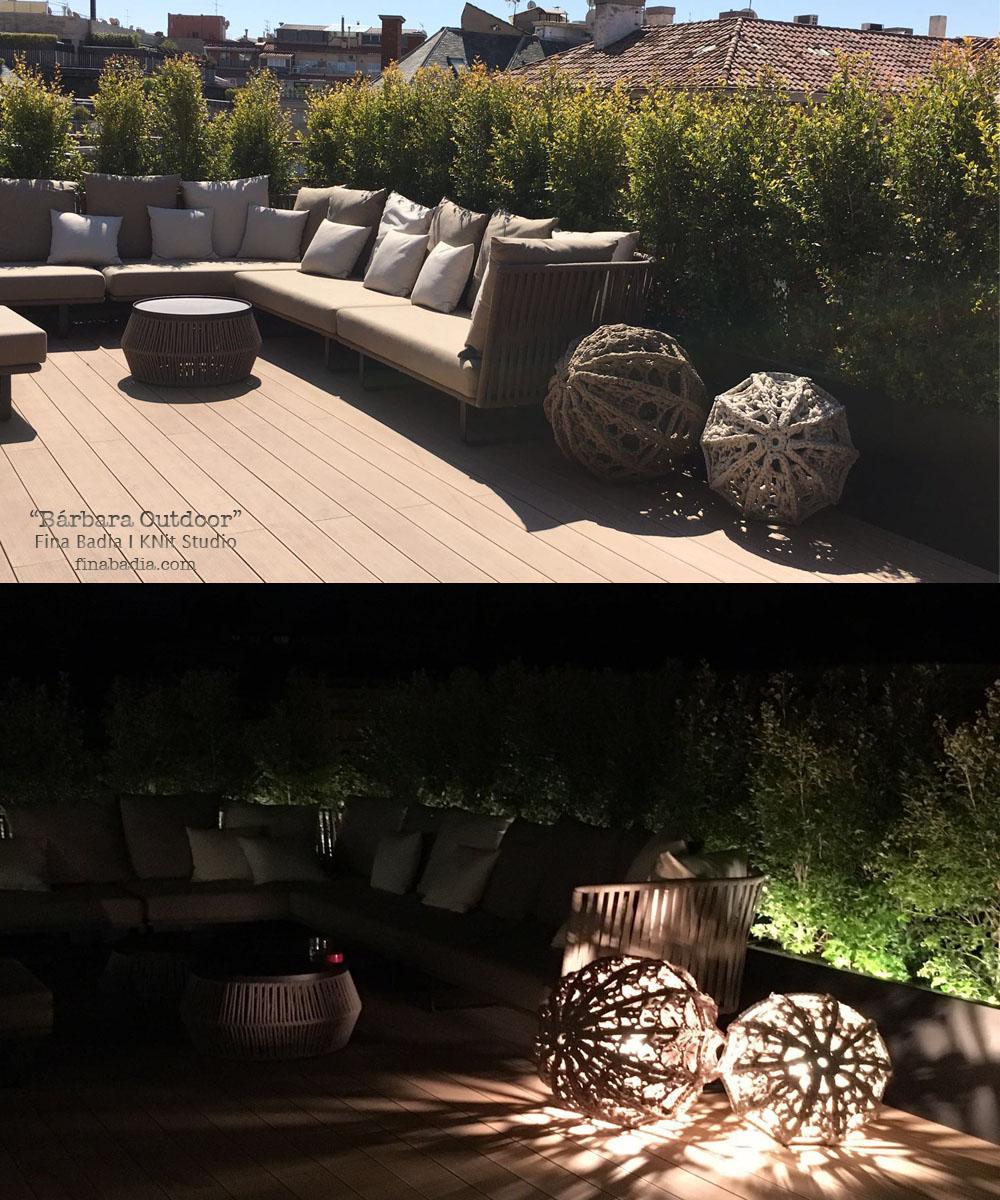 cet t clairant les belles terrasses fina badia. Black Bedroom Furniture Sets. Home Design Ideas